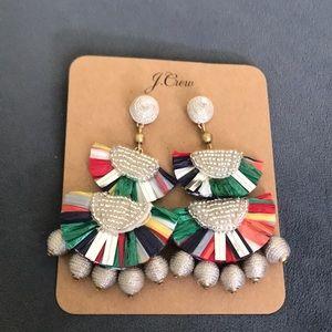 Jcrew Bead Raffia Earrings